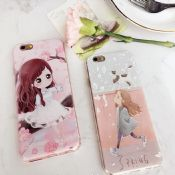 Cartoon Girl Silicone Cell Phone Case for iPhone6s 6plus images